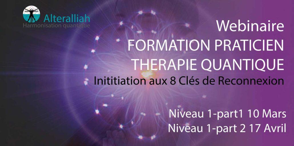 formation praticien thérapie quantique niveau 1-printemps 2018- Alteralliah