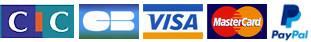 CIC - CB - Visa - MasterCard - Paypal