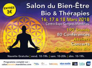 SALON BIEN-ÊTRE et THÉRAPIES MANDELIEU Mars 2018 @ Centre Expo Congrès | Mandelieu-la-Napoule | Provence-Alpes-Côte d'Azur | France