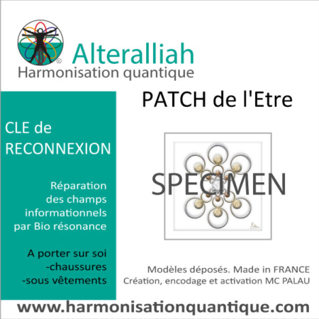 Patch harmonisant quantique Clé de l'Amour-Alteralliah