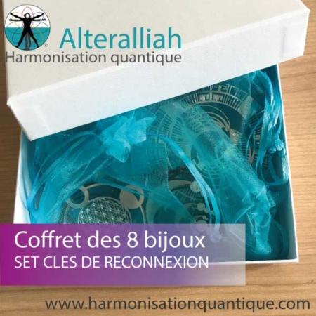 COFFRET DES 8 BIJOUX QUANTIQUES - CLÉS DE RECONNEXION - Alteralliah-Harmonisation quantique