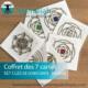 COFFRET DE 7 CARTES CLÉS QUANTIQUES DE CONSCIENCE ET SAGESSE - Alteralliah-Harmonisation quantique